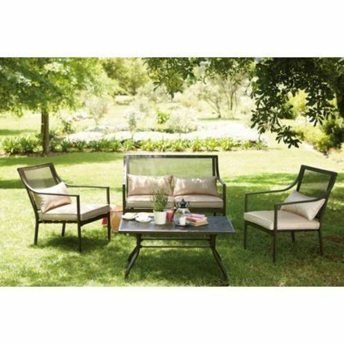 New Rimini Garden Sofa Patio Set Four Seater Coffee Table • £125 0
