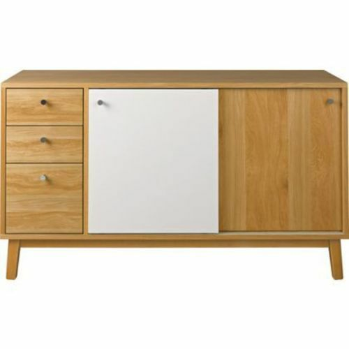 hygena merrick oak sideboard modern take on a mid century retro vintage style. Black Bedroom Furniture Sets. Home Design Ideas