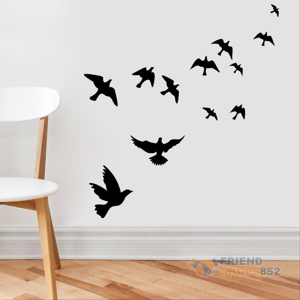 Diy flying birds art wall stickers vinyl removable decals for Bird home decor