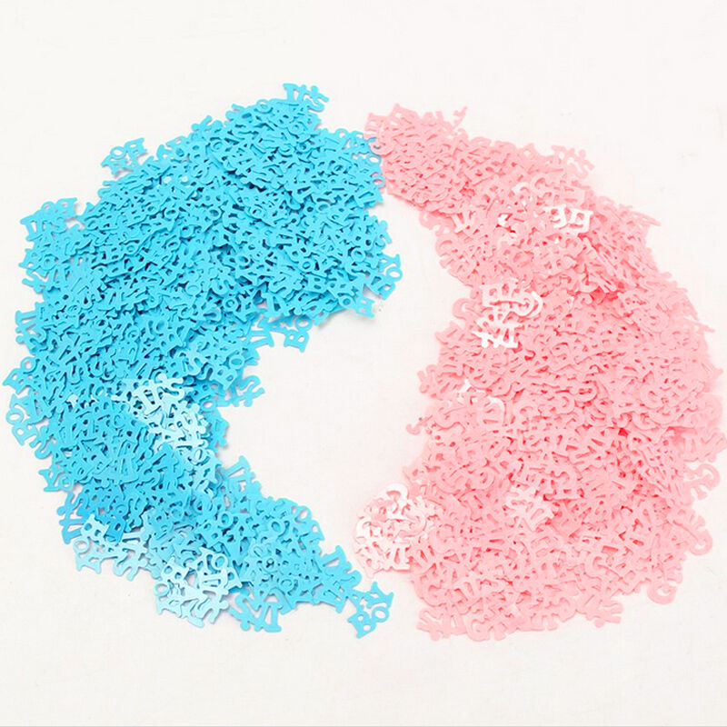 Baby shower confetti table sprinkles birthday party for Baby confetti decoration