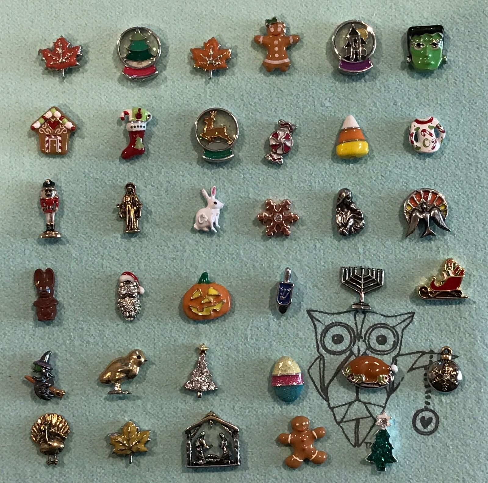 Authentic Origami Owl Holiday Charms New Retired 500 Picclick