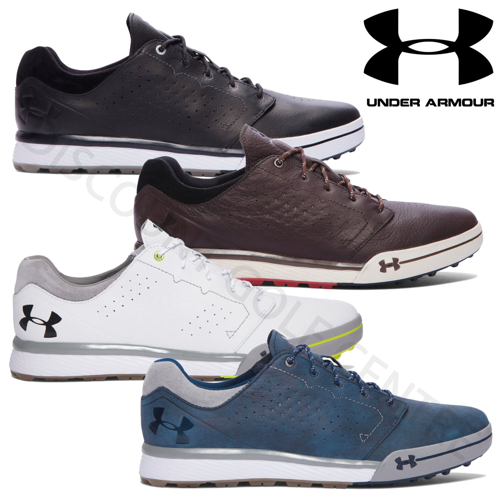 under armour mens 2017 ua tempo hybrid leather waterproof spikeless golf shoes. Black Bedroom Furniture Sets. Home Design Ideas