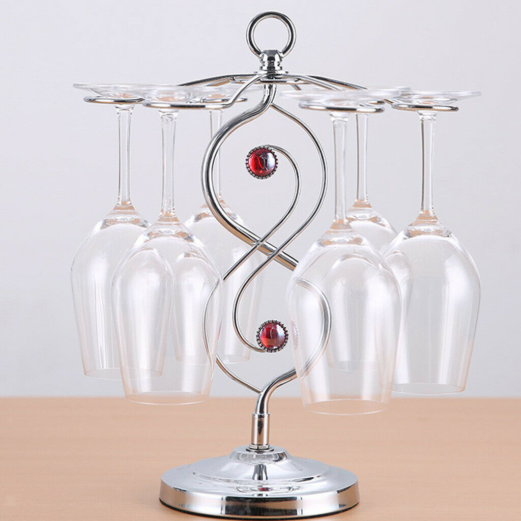 Exquisite Wine Cups Rack Glasses Air Drying Holder Shelf Bar Tools Accessories