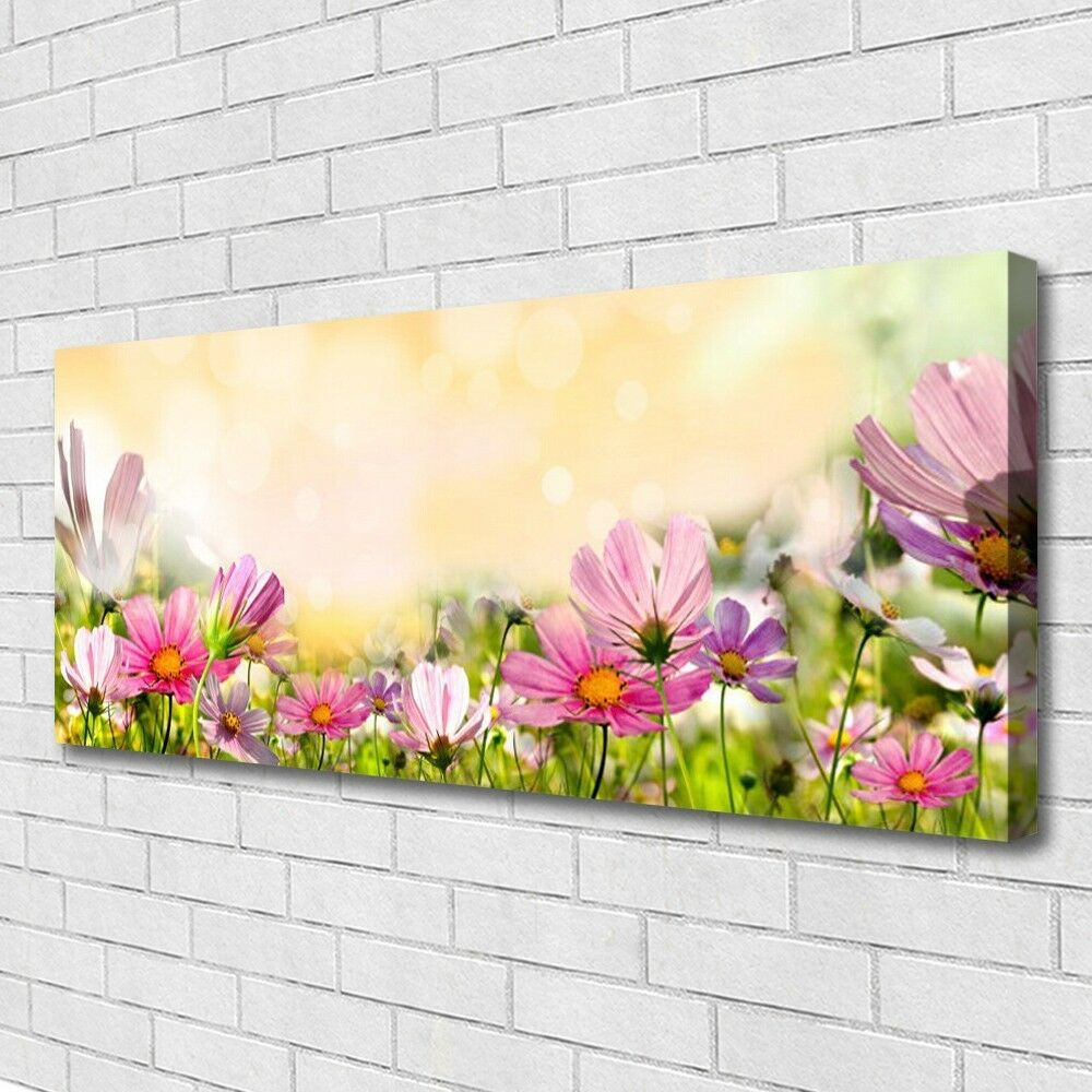 leinwand bilder wandbild canvas kunstdruck 125x50 blumen. Black Bedroom Furniture Sets. Home Design Ideas