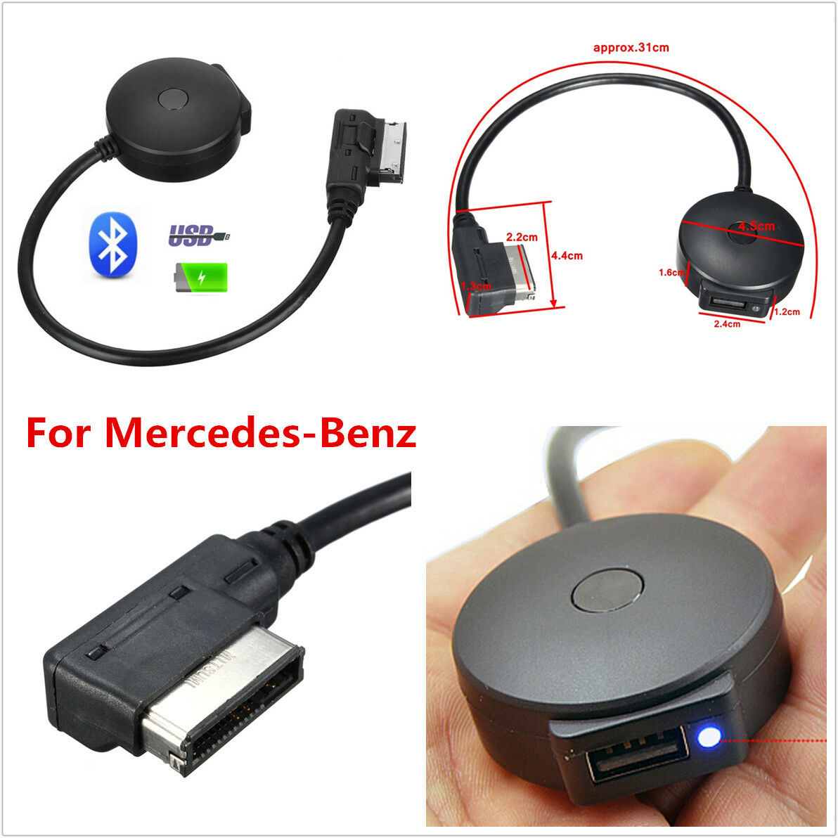 Wireless Bluetooth Music Adapter Usb Mmi Aux Interface