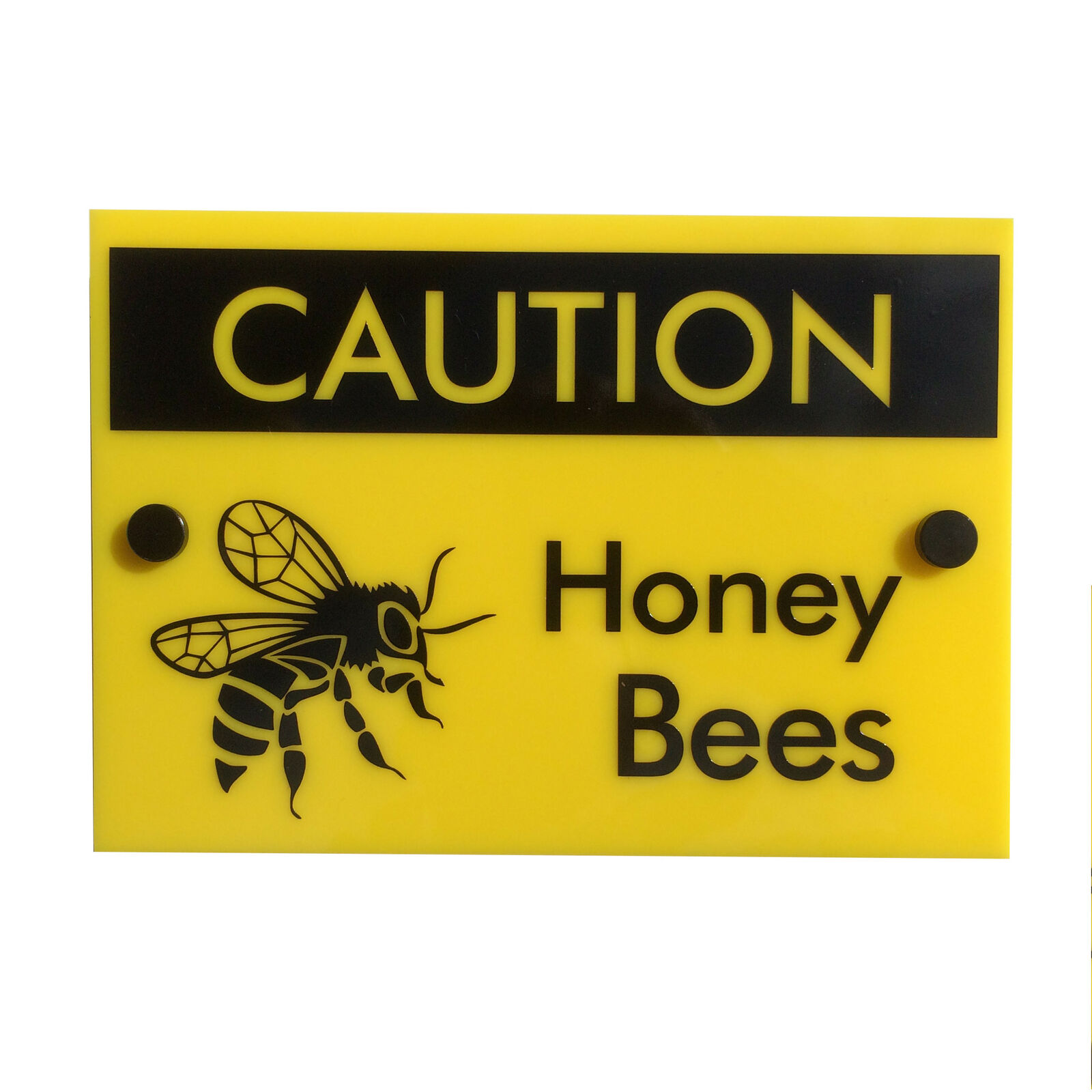 Bee Keeping Warning Sign 'Caution Honey Bees' water&weather proof FREE SHIPPING