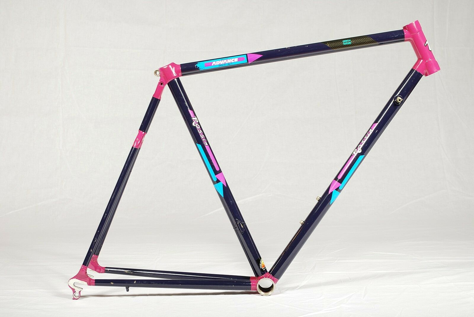 VINTAGE ROSSIN ROAD Bicycle Carbon Frame 54cm Classic Bike Hard To ...