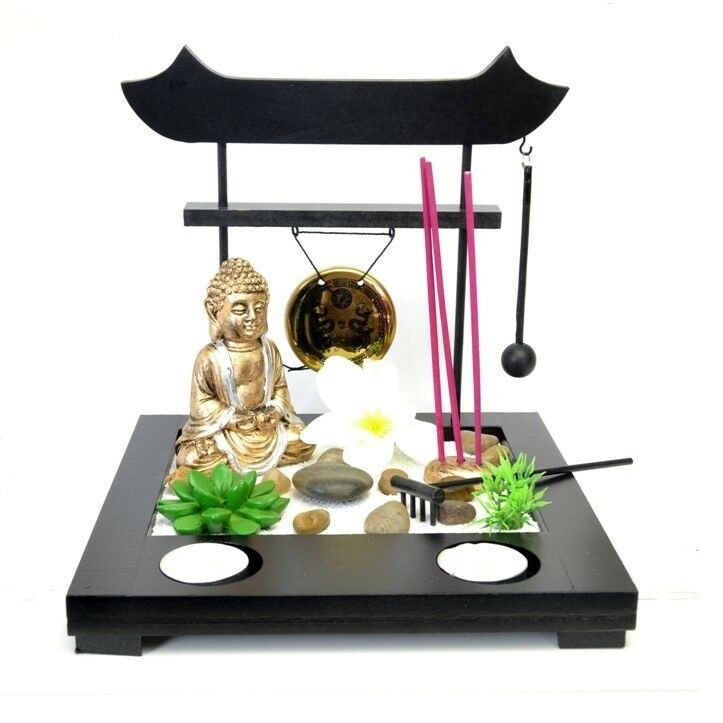 deko set mini zen garten buddha asia tempel pagode entspannung feng shui siam eur 19 95. Black Bedroom Furniture Sets. Home Design Ideas