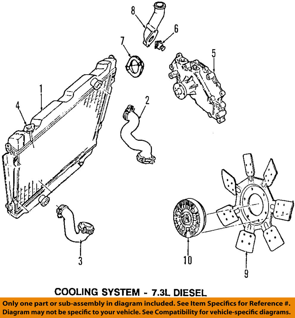 Ford Oem Engine Cooling Radiator Fan Clutch Au2z8a616ta 21375 Diagram 1 Of 1free Shipping