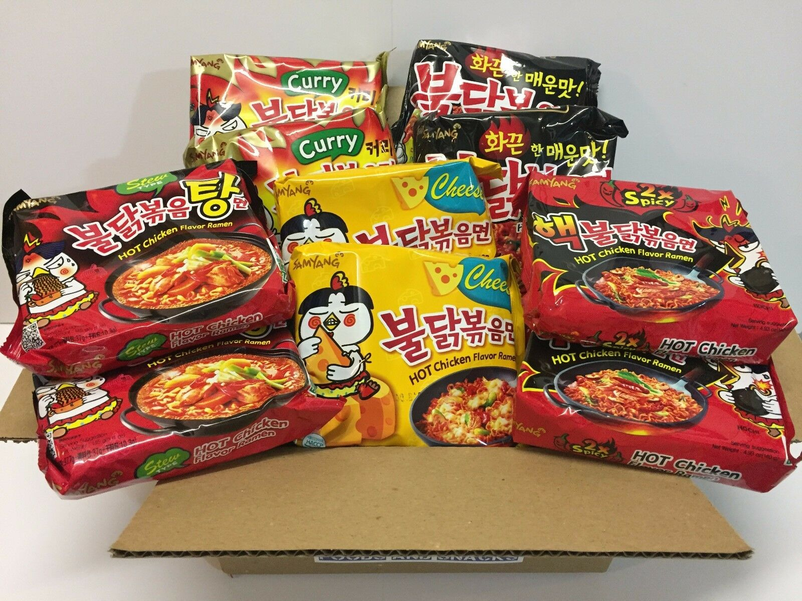 Samyang Spicy Chicken Ramen Noodle Buldak Variety Curry Pk Nongshim Hot Logo Halal Shin Paldo 1 Of 3 See More