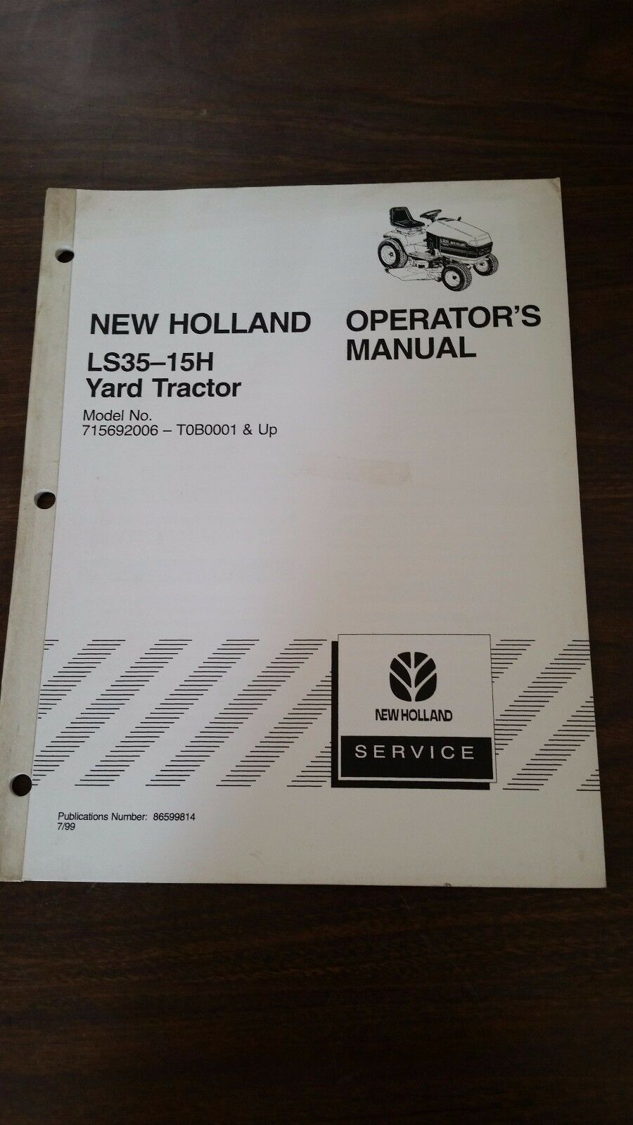 new holland ls35 yard tractor operator s manual part 86599814 rh picclick com New Holland Workmaster New Holland Workmaster
