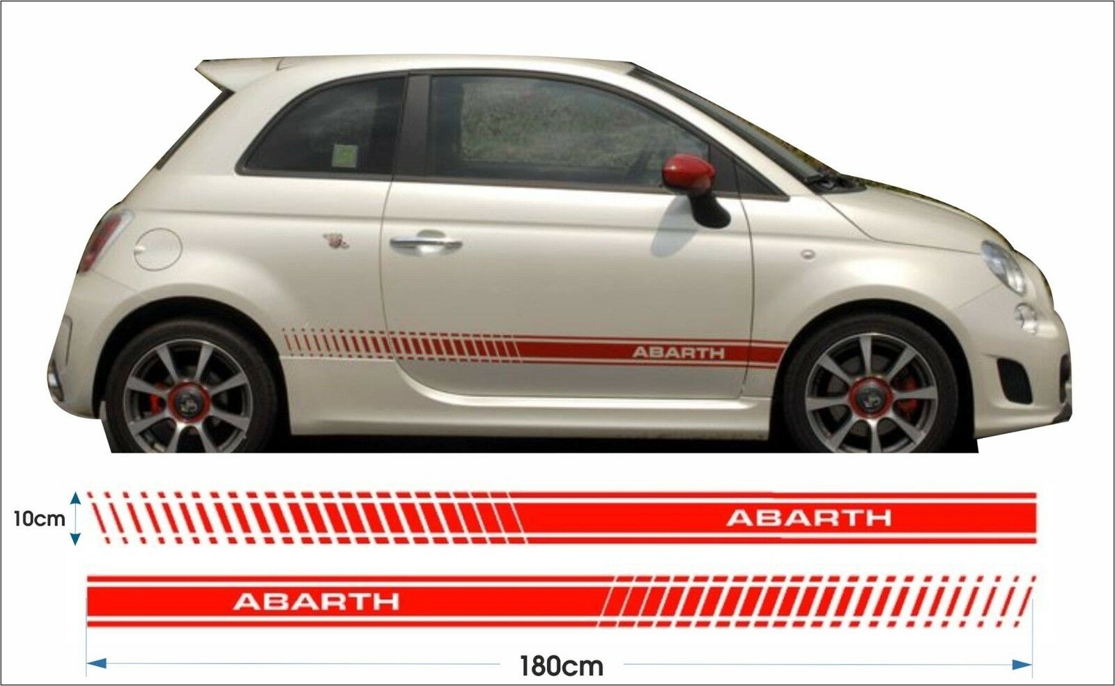 Fiat 500 Abarth Decals Stickers Kit Graphics Side Stripes