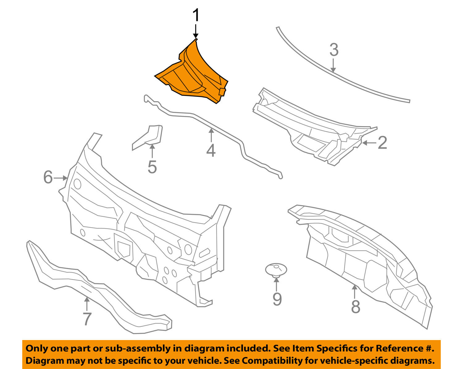 Mini Oem 07 15 Cooper Cowl Panel Windshield Wiper Motor Cover Right Wiring Diagram 1 Of 2free Shipping