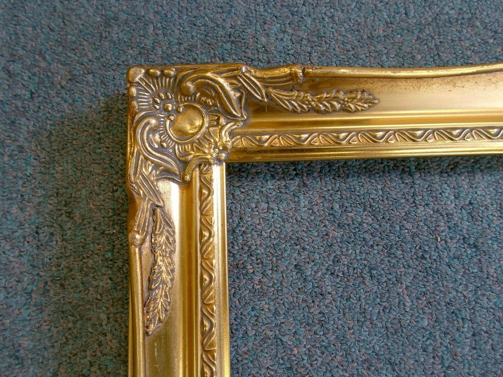 Picture frame 8x10 vintage old gold antique style ornate for Small vintage style picture frames