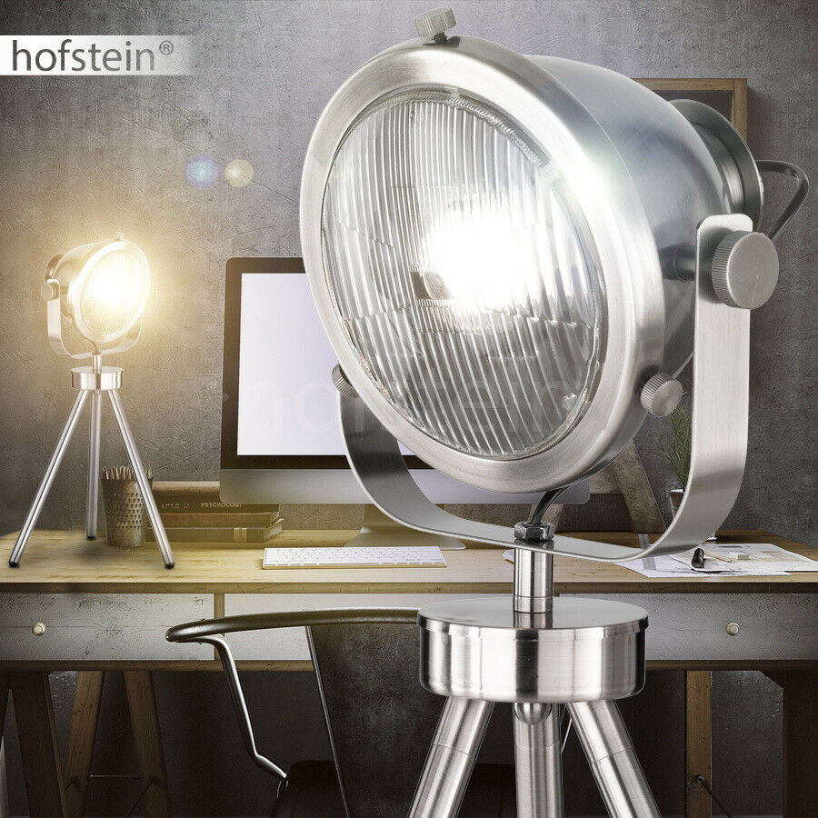 scheinwerfer tischleuchte design schwenkbar fotostudio retro auto lampe b ro eur 34 99. Black Bedroom Furniture Sets. Home Design Ideas