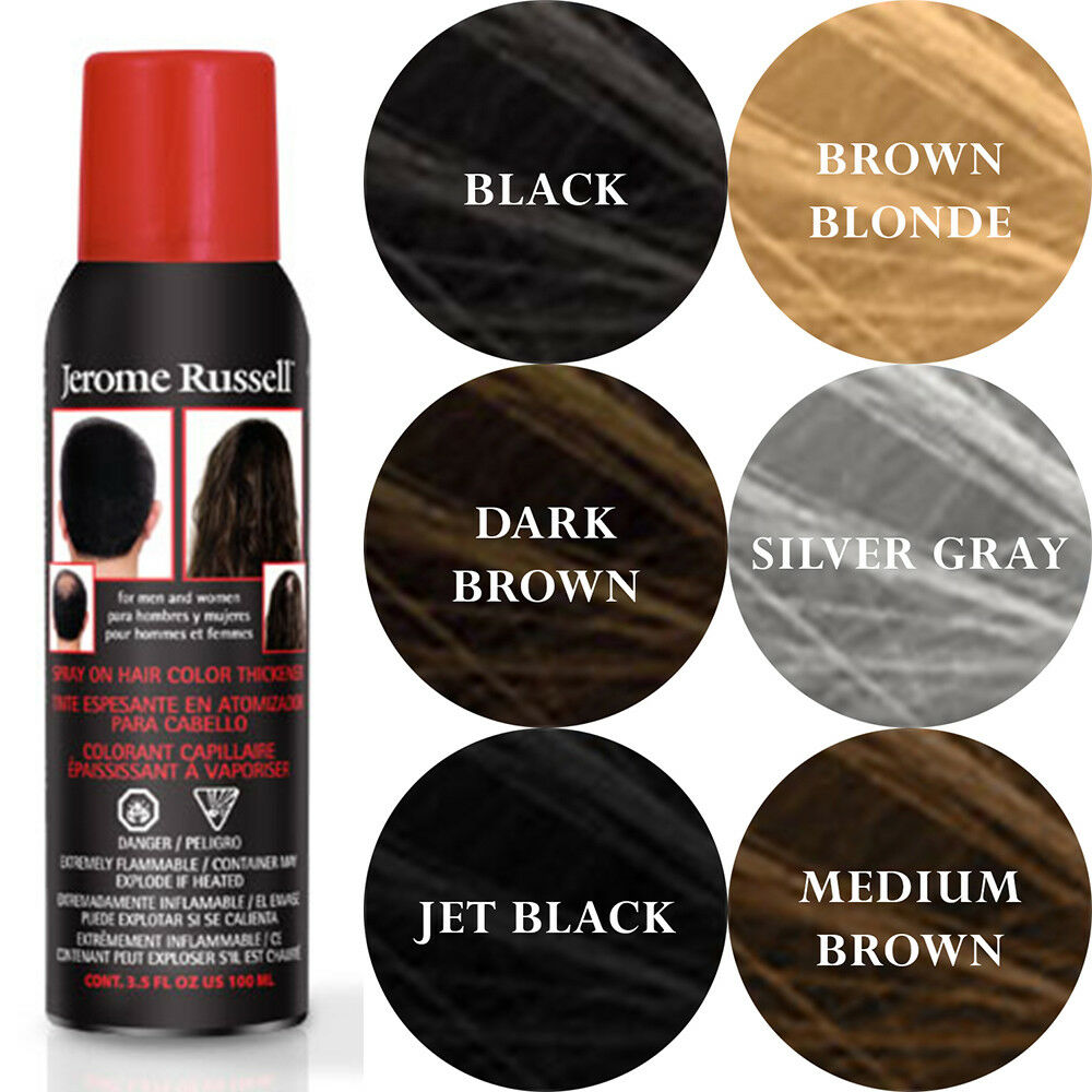 Jerome Russell Spray On Hair Color Thickener 100 Ml 35 Oz 649