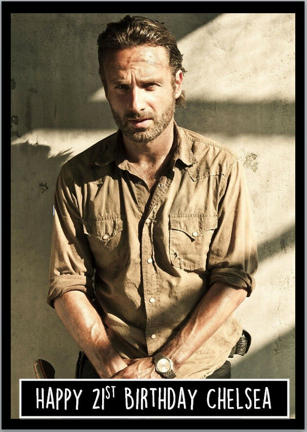 Rick Grimes Walking Dead Birthday Card A5 Personalised With Any