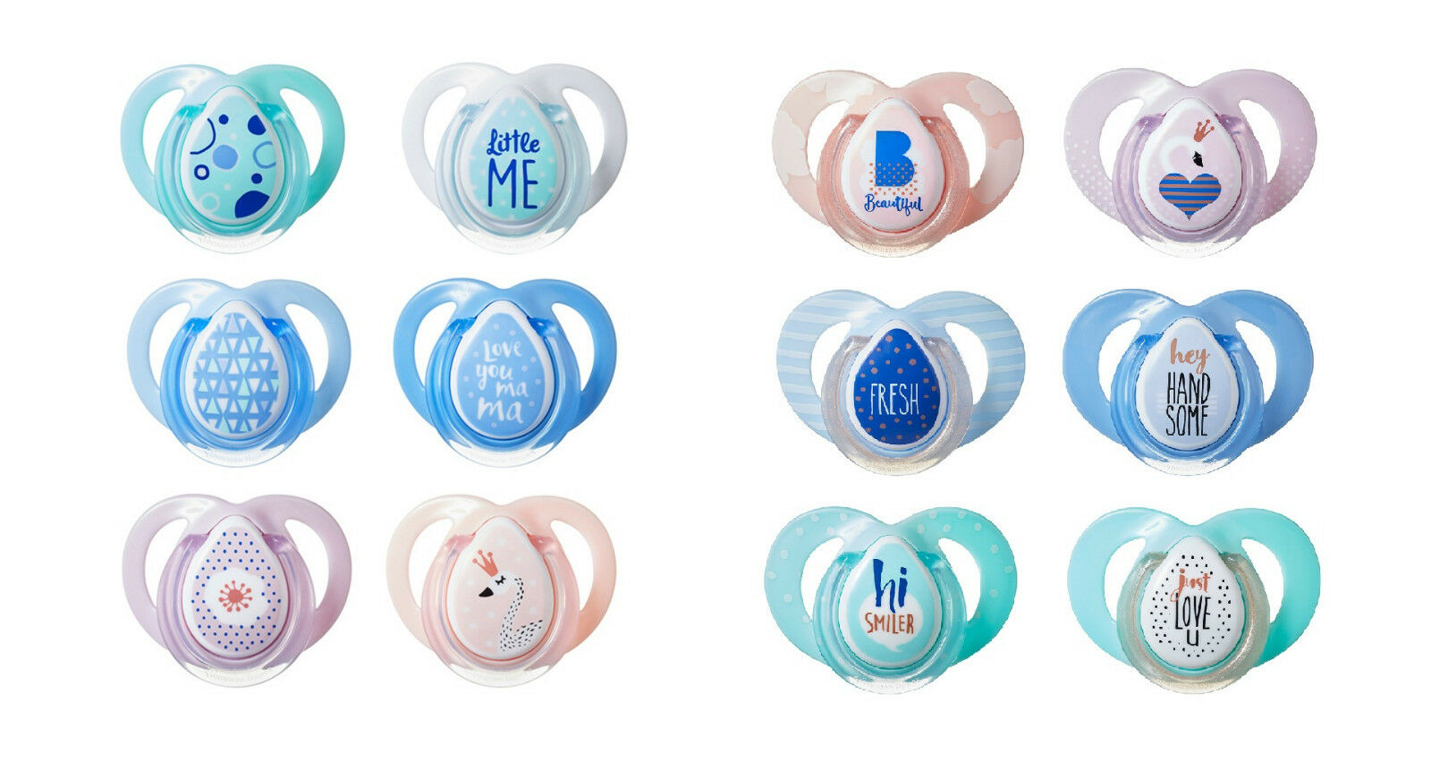 Baby Soother Dummy Pacifier Nipple Tommee Tippee 0 6m 6 18m 2 Pack Philips Avent Orthodentic Pink