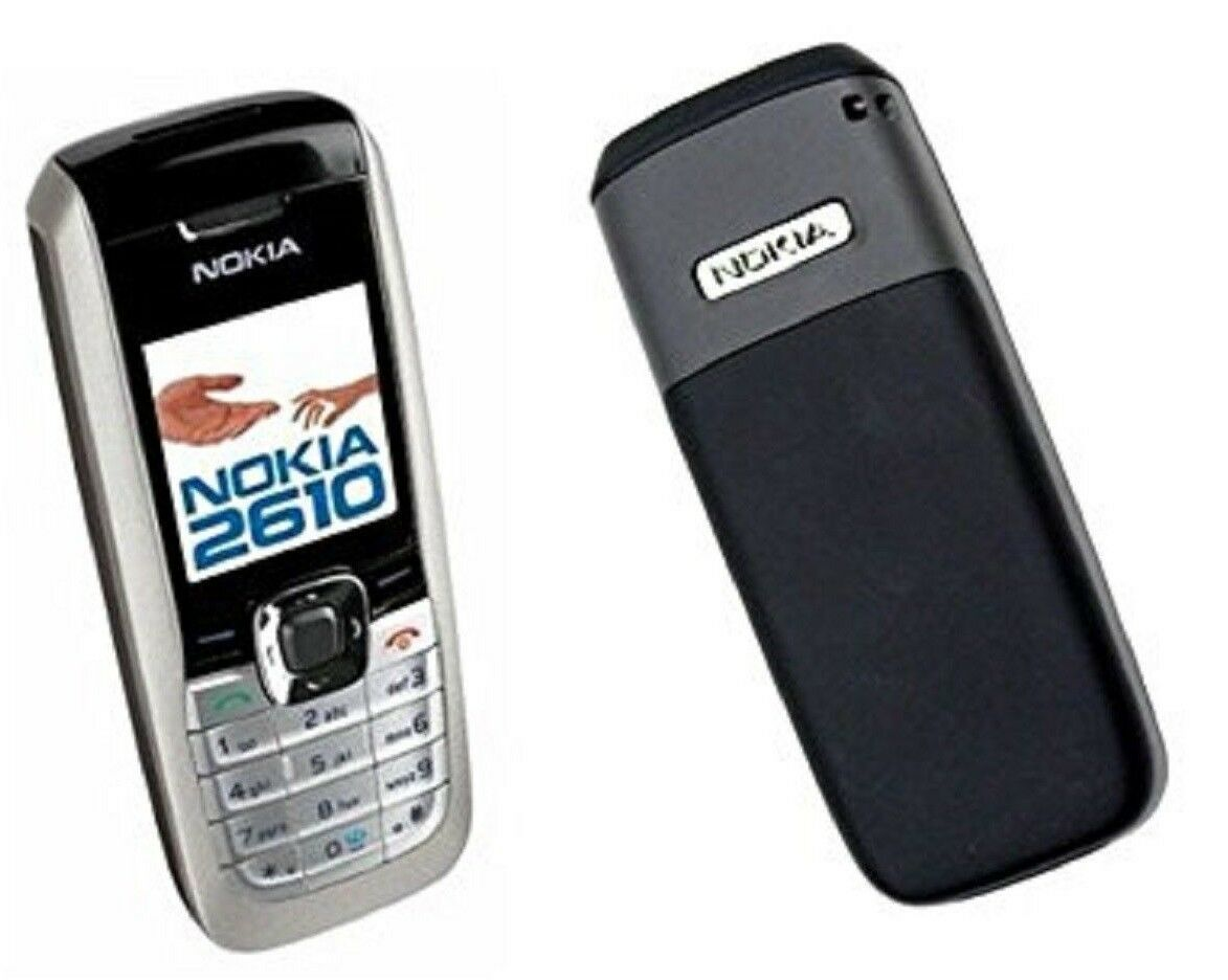 good nokia 2610 2610b silver speaker dualband gsm at t cell phone rh picclick com