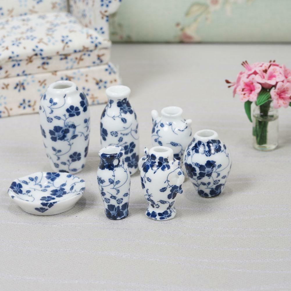 7x puppenhaus keramik miniaturen china porzellan vase blau vine 1 12 new eur 4 67 picclick de. Black Bedroom Furniture Sets. Home Design Ideas