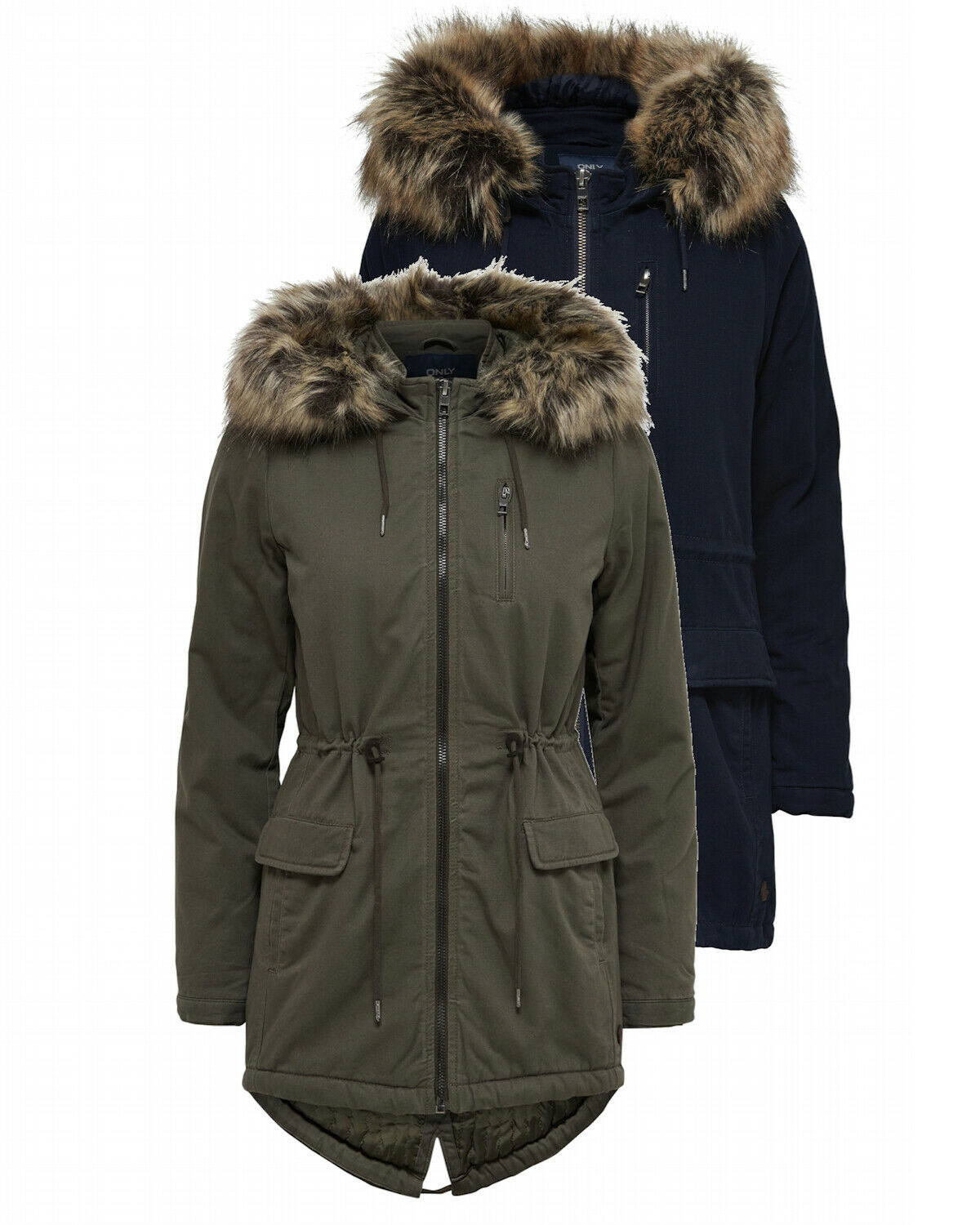only damen mantel onlmacy canvas parka jacke 15136011 xs xl mit kapuze gr n blau eur 39 90. Black Bedroom Furniture Sets. Home Design Ideas