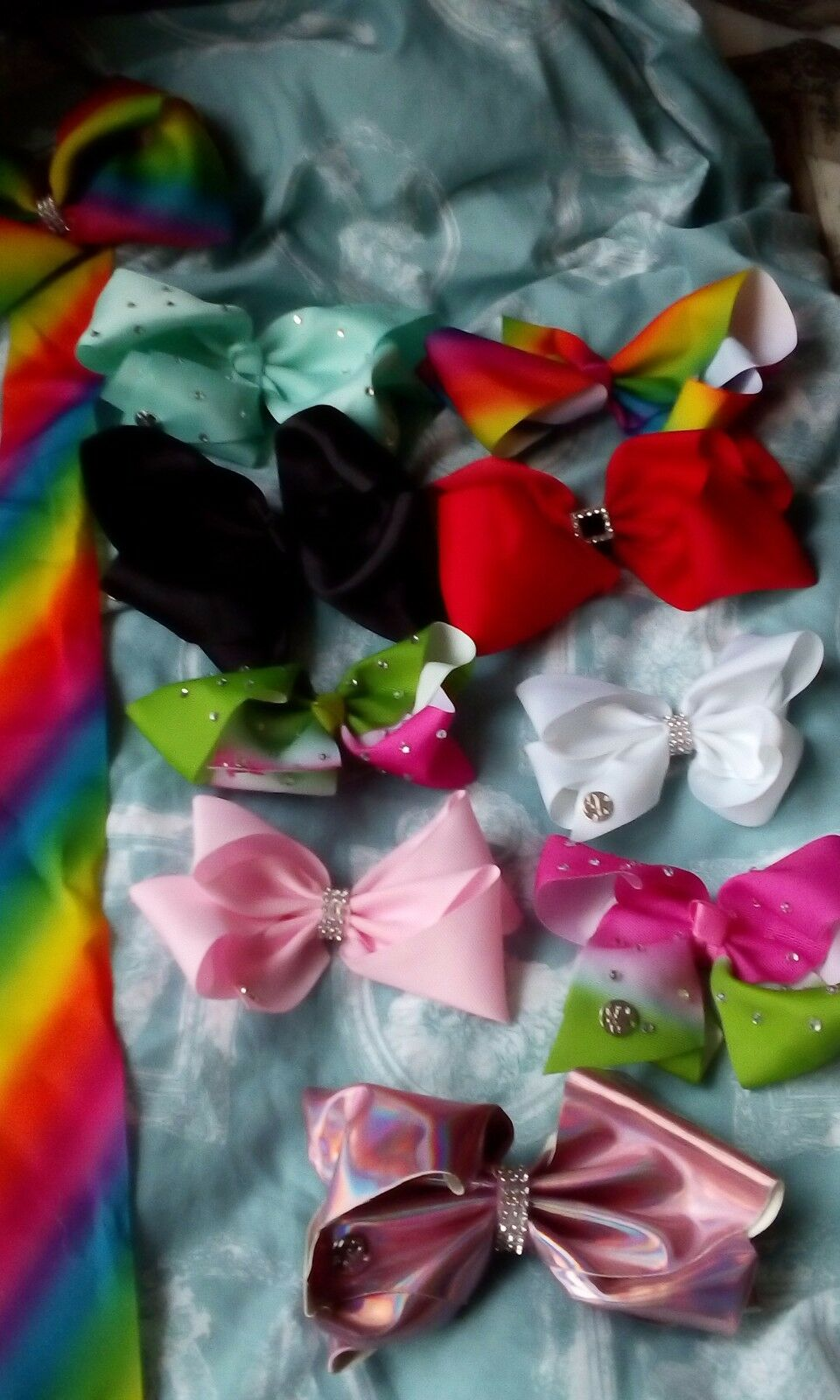 BUNDLE OF 9 JoJo bows including limited Christmas edition and bow ...