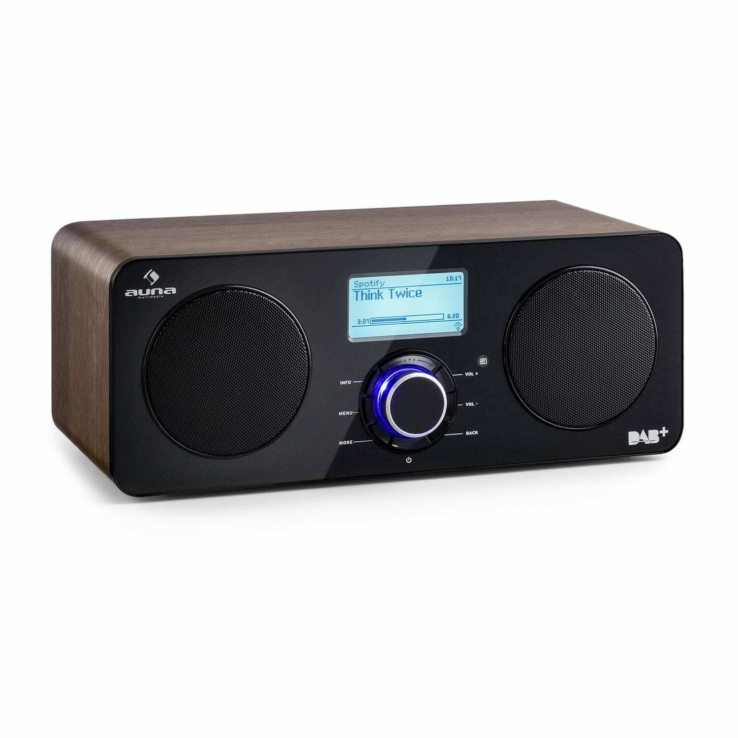 internetradio dab digitalradio wecker holz retro vintage spotify connect wlan eur 109 99. Black Bedroom Furniture Sets. Home Design Ideas