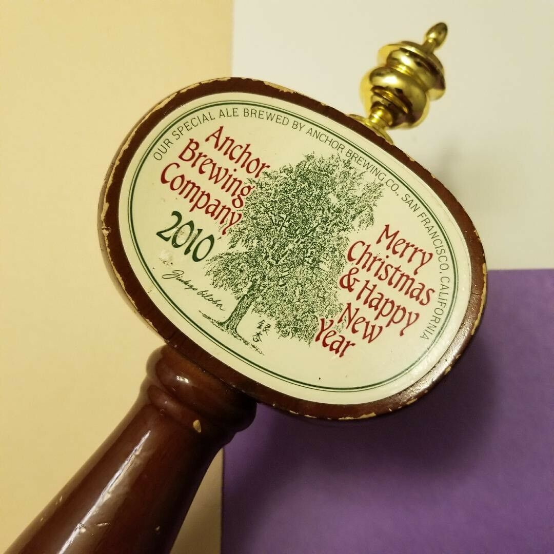 Beer Tap Handle Anchor Brewing Co 2010 Merry Christmas Happy New Year Beer Tap Only 1 Available See More