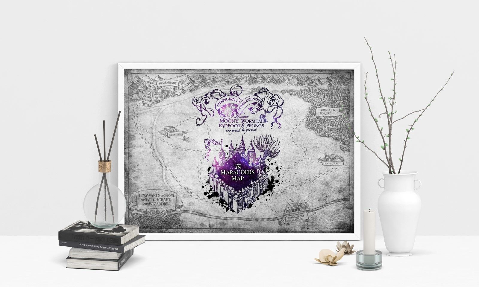MARAUDERS MAP, Poster, Print, Harry Potter, solemnly swear, Gift ...