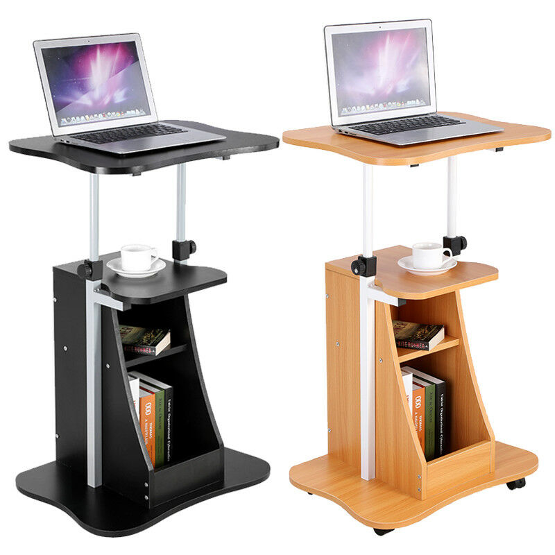 New Mobile Laptop Desk/Cart/Stand Adjustable Computer Laptop Table Home  Office 1 Of 12Only 3 Available ...