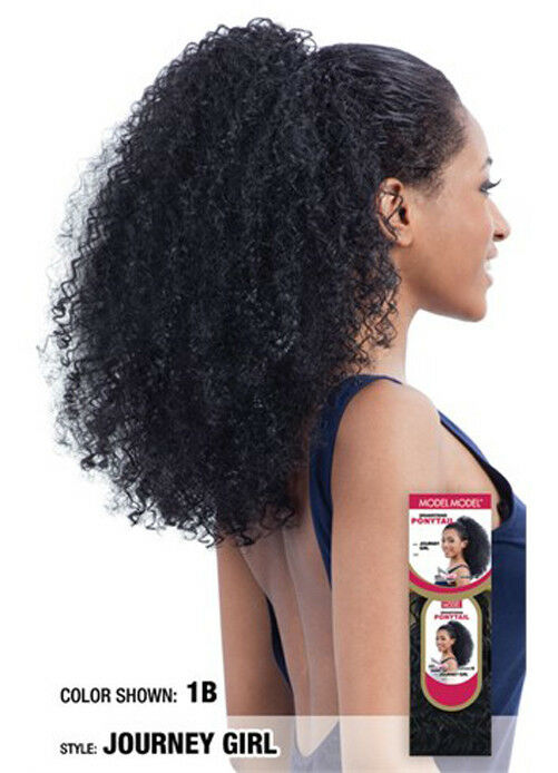 Model Model Drawstring Ponytail Afro Style Long Hair Extension
