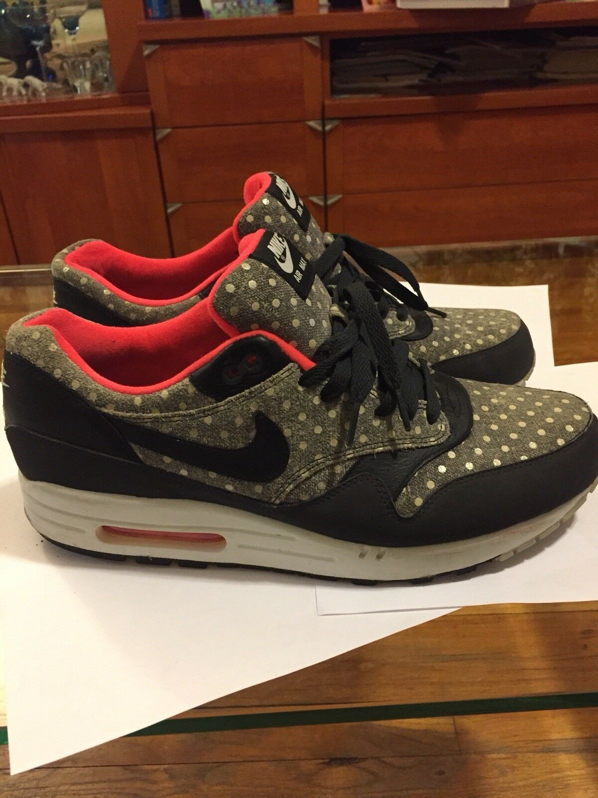 453b028ace Nike Air Max 1 Premium Polka Dot Used Size 12 Atmos 95 90 97 1 of 12Only 1  available ...