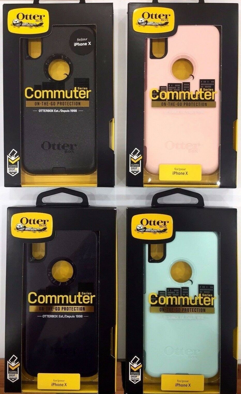 Original New Otterbox Commuter Series Case Cover For Apple Iphone X Black 10 1 Of 12only 5 Available