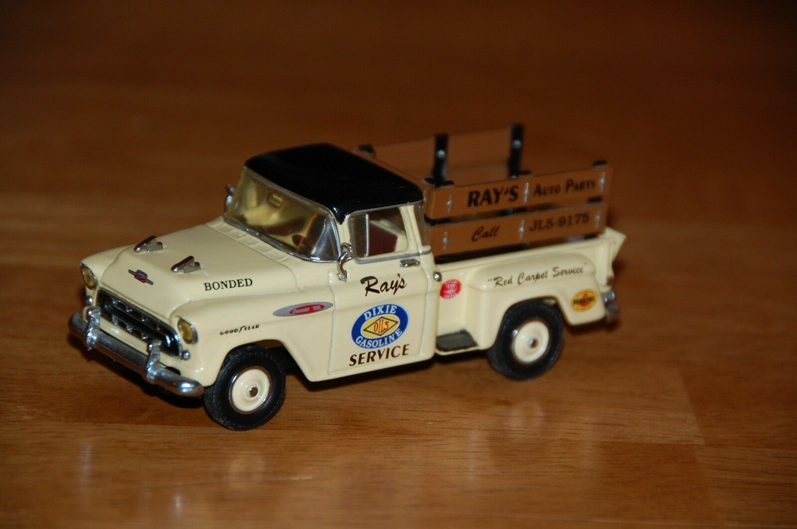 Matchbox Collectibles Yrs05 1957 Chevrolet 3100 Pickup Truck Chevy Stepside Dixie Gas 1 Of 3only Available