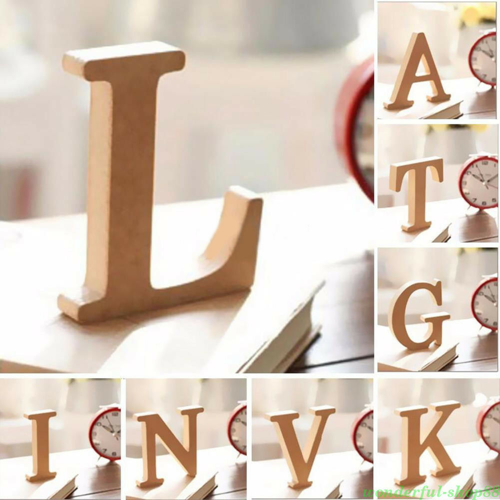 1pc large a z wooden letters alphabet wall hanging wedding for Abc wooden wall letters