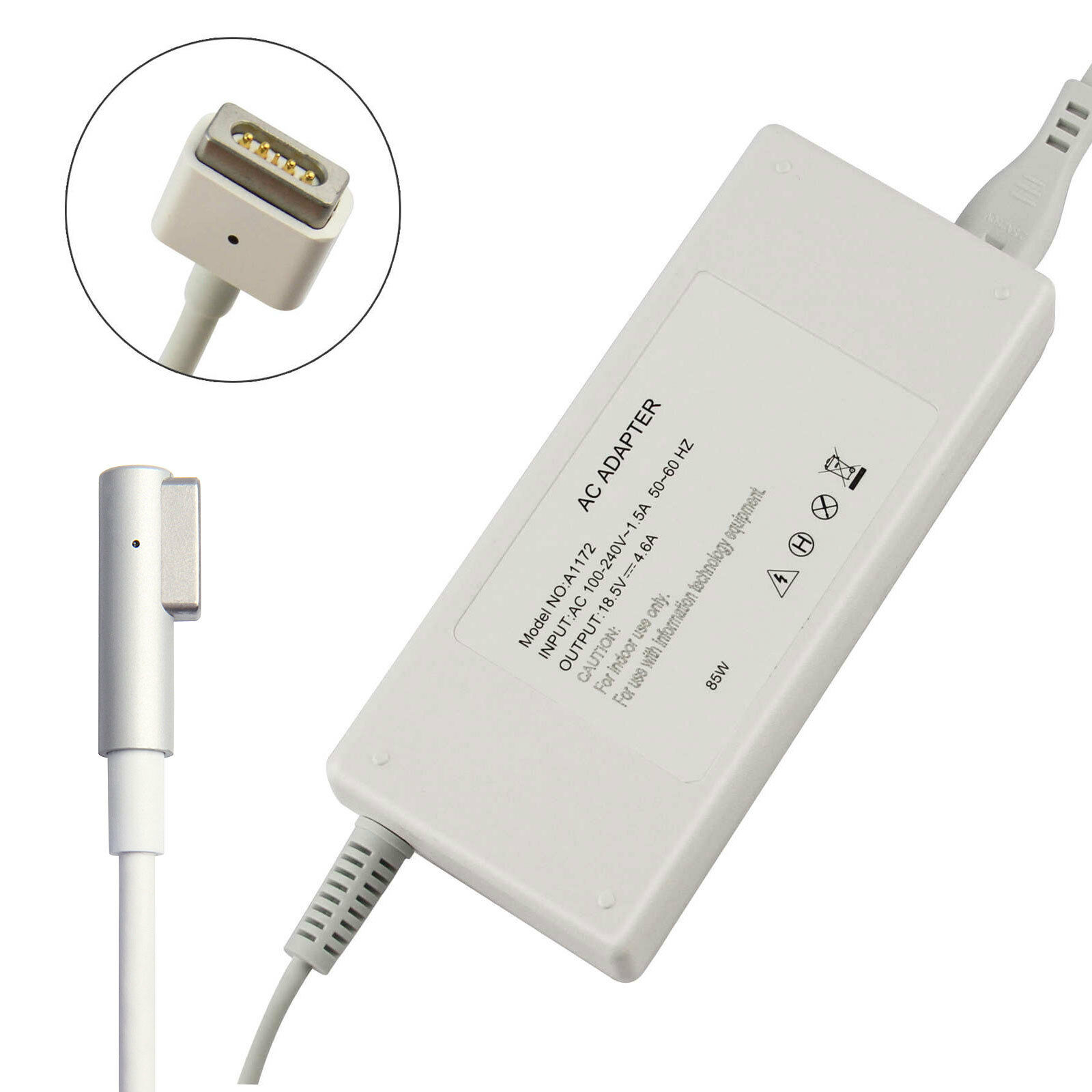 85w 60w 45w Ac Charger Power Supply Adapter For Apple Macbook Pro 13 Adaptor Magsafe A1181 A1184 A1278 A1330 A1344 15 1 Of 6free Shipping