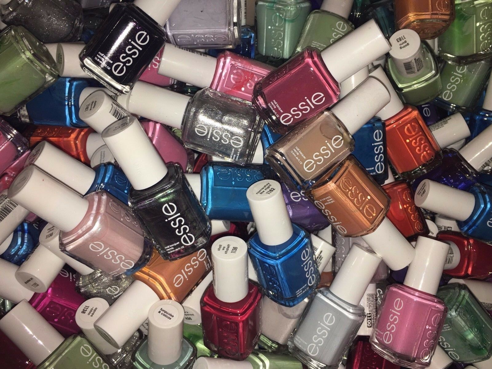 ESSIE NAIL POLISH, Lot Of 100 Full Size Bottles, Assorted Colors ...