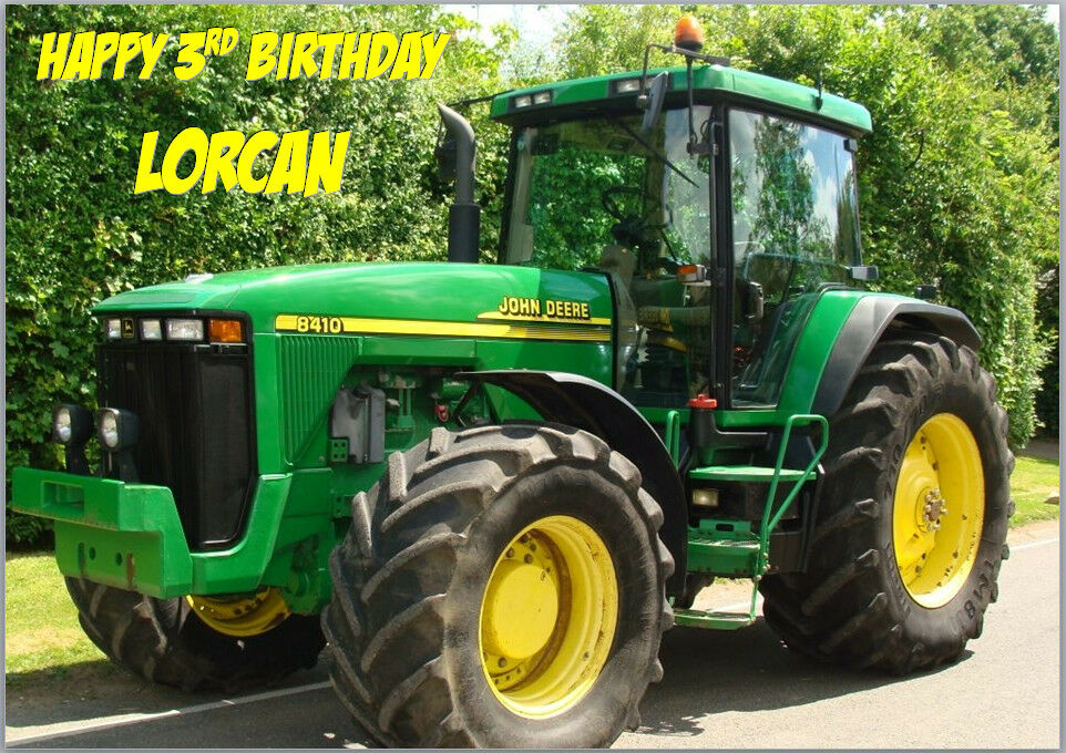 John Deere Tractor Green Birthday Card A5 Personalised With Any