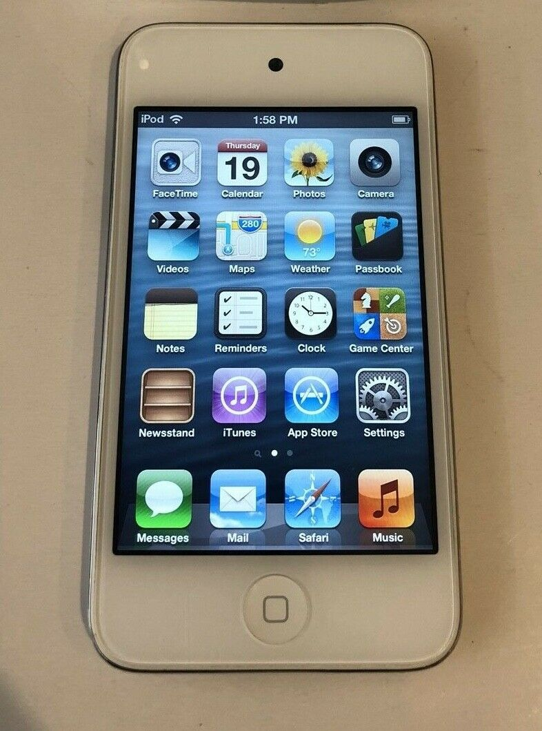 Apple Ipod Touch 4th Generation White 8 Gb Good Condition 6 32gb Blue 1 Of 10only Available