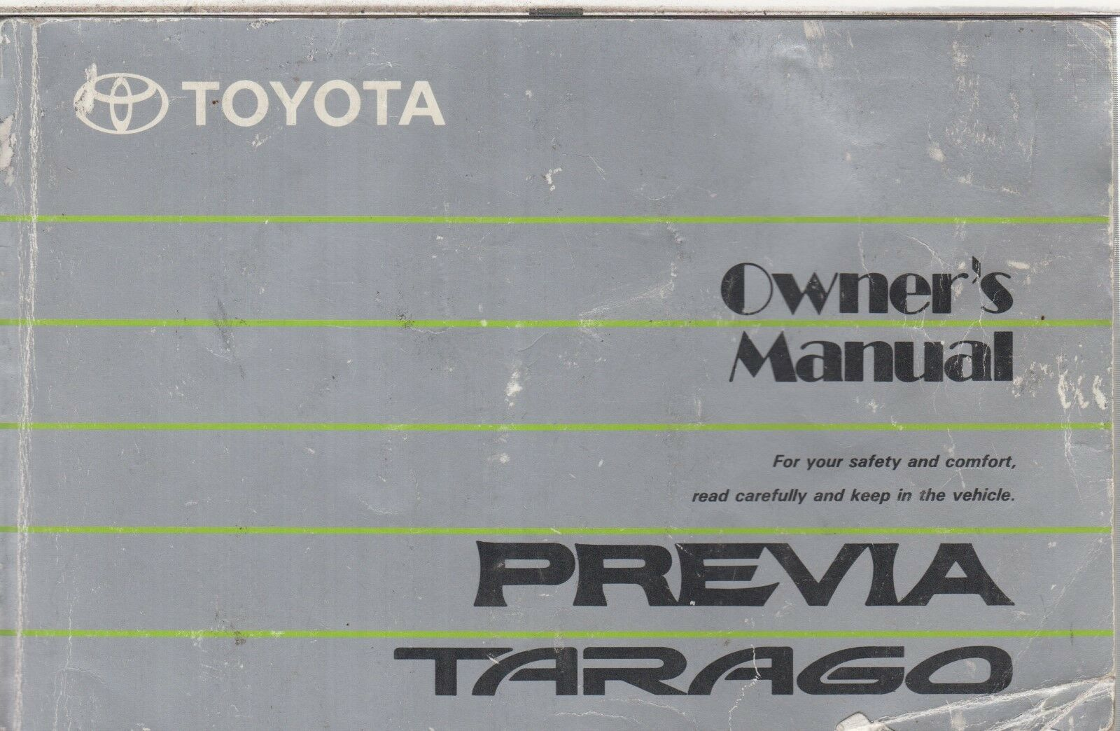 Toyota Previa 2.4 Petrol Original 1991 Owners Instruction Manual 1 of 1 See  More