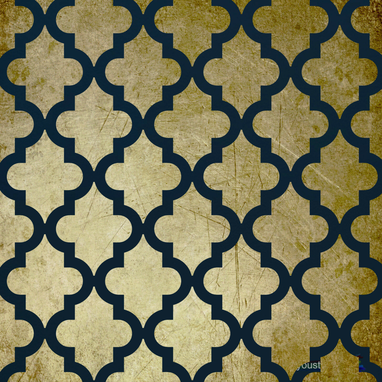 Large Moroccan Stencil Template 6 For Walls Fabric Decoration