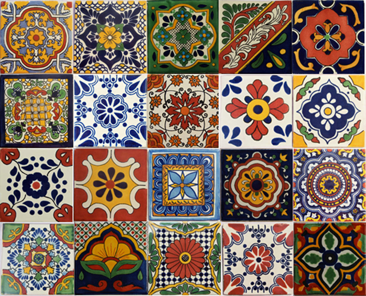 100 PCS Talavera 6X6 Handmade Ceramic Stair Risers Tile Mexican MIX 1 Of  1FREE Shipping See More