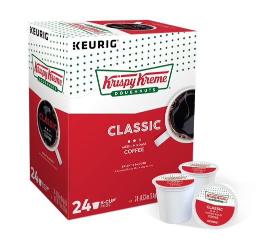 KRISPY KREME DOUGHNUTS Smooth Coffee 24 to 96 K cups Pick Any Size ...