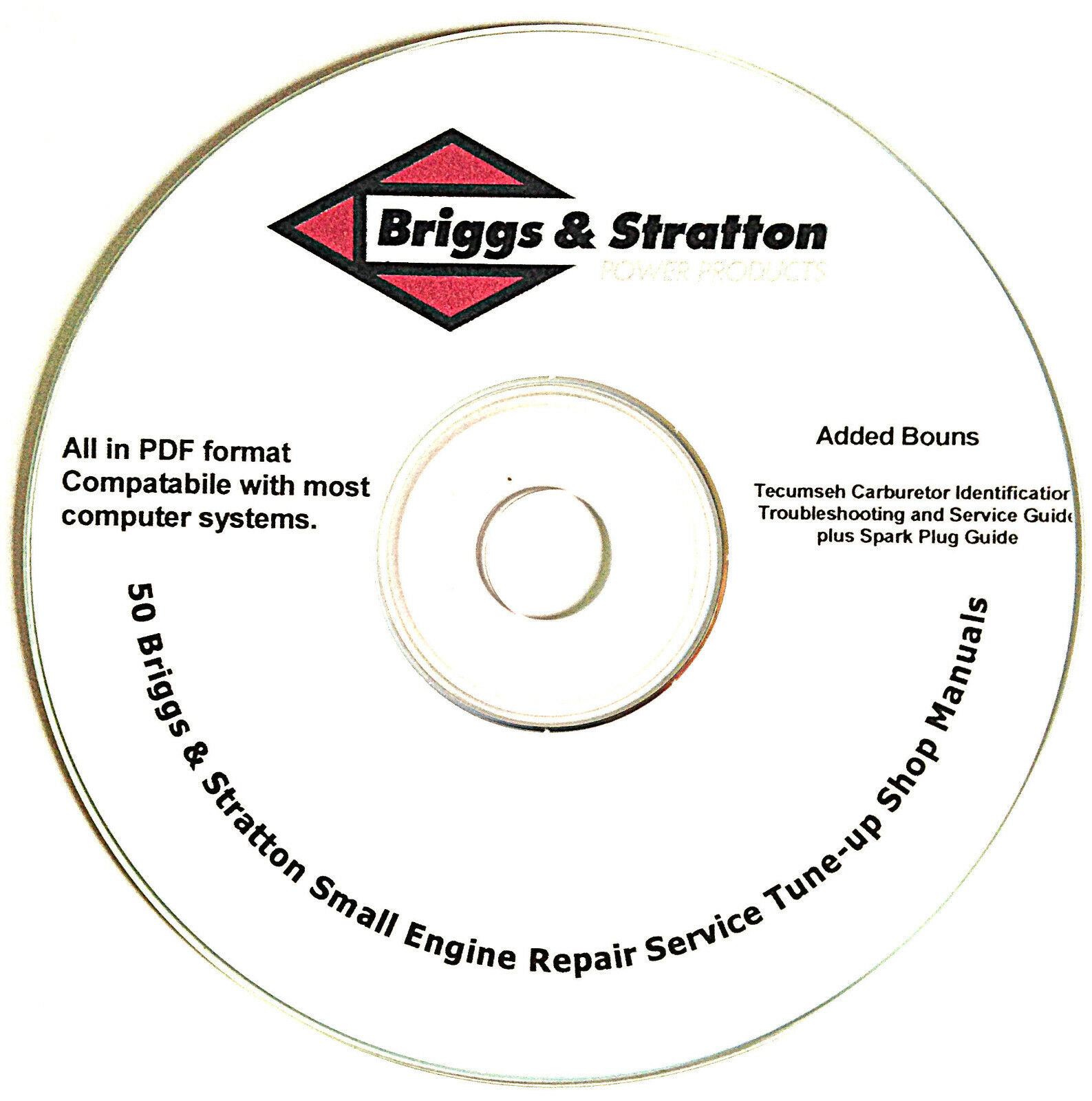 Briggs And Stratton Service Repair Manuals Small Engine Mower Repair Guide  Cd 1 of 6FREE Shipping ...