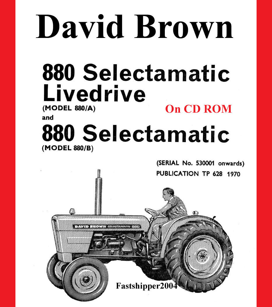 Case David Brown Tractor 880 Selectamatic PARTS CATALOG MANUAL A B  Livedrive Non 1 of 4FREE Shipping ...