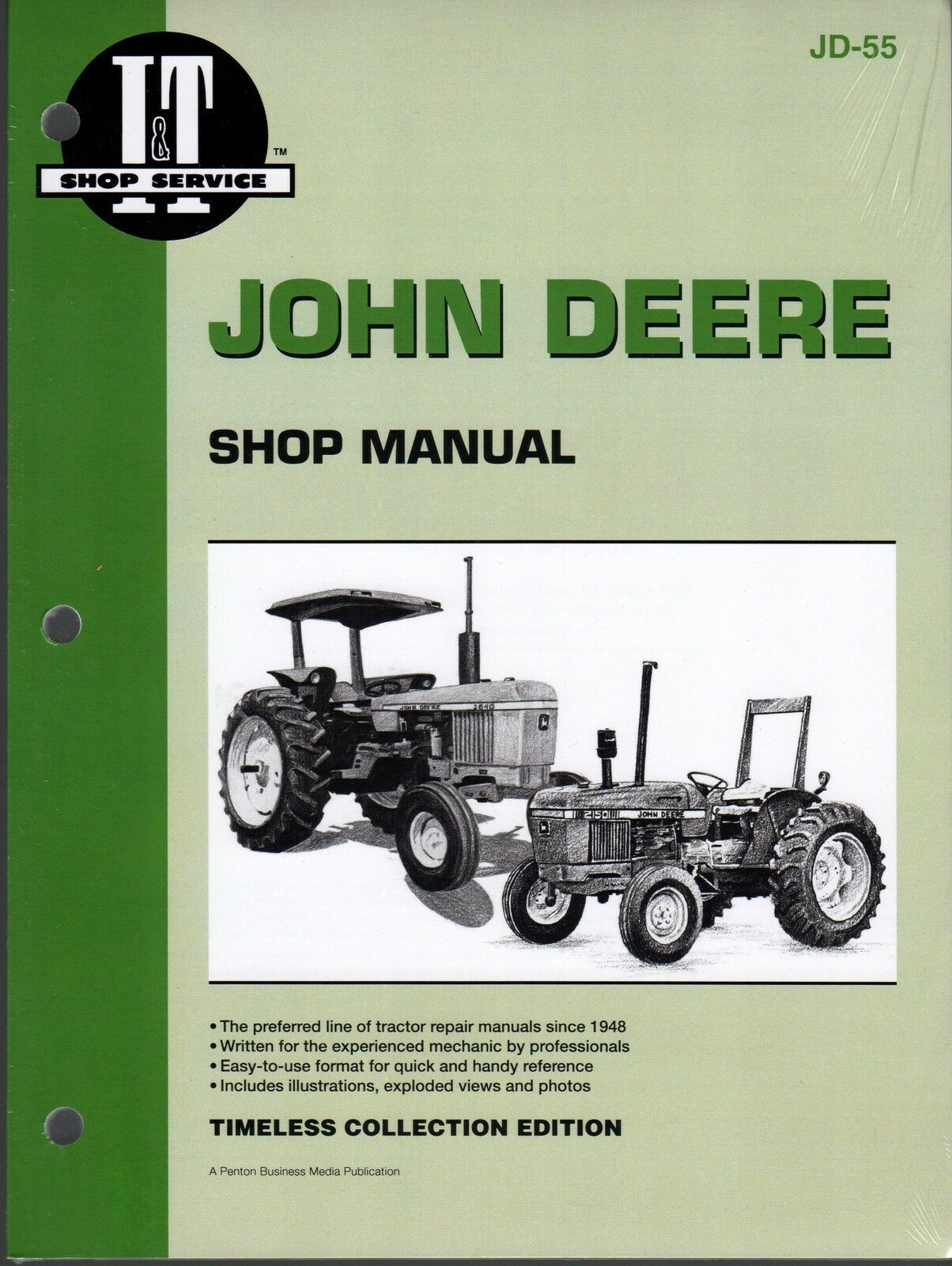 John Deere 1250, 1450, & 1650 I&t Tractor Shop Service Manual Jd-55
