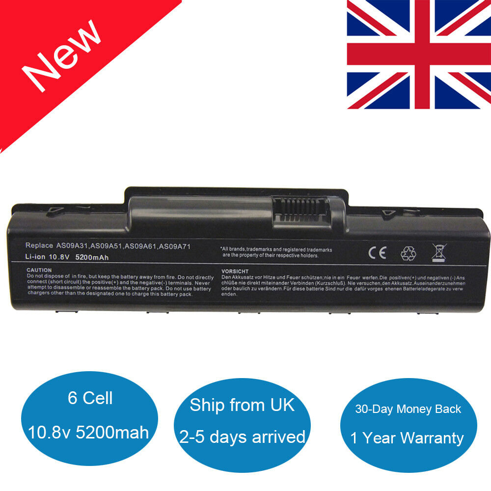 1 Sur 7Seulement 0 Disponible Laptop Battery For Acer Aspire AS09A31 AS09A41 5732z