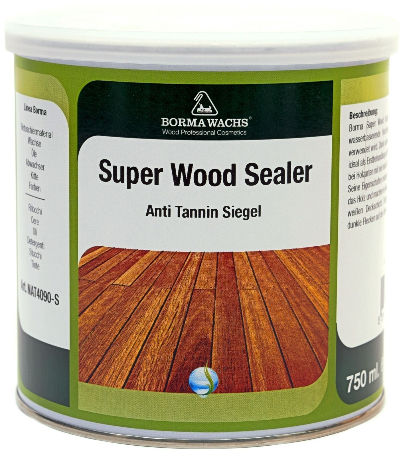15,93€/l super wood sealer weiss anti tannin grundierung sperrgrund