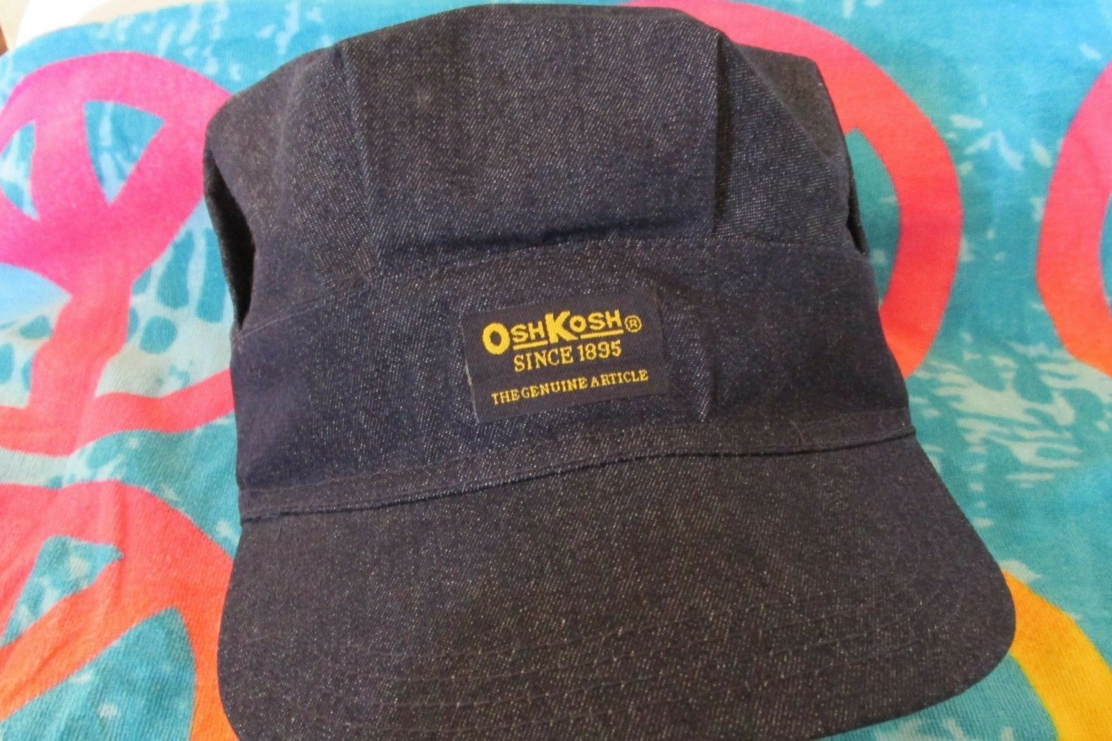 RailRoad   Engineer Hat Original Osh Kosh ~NEW~ with Tag 1 of 2FREE  Shipping ... 5b79d7c7a30e
