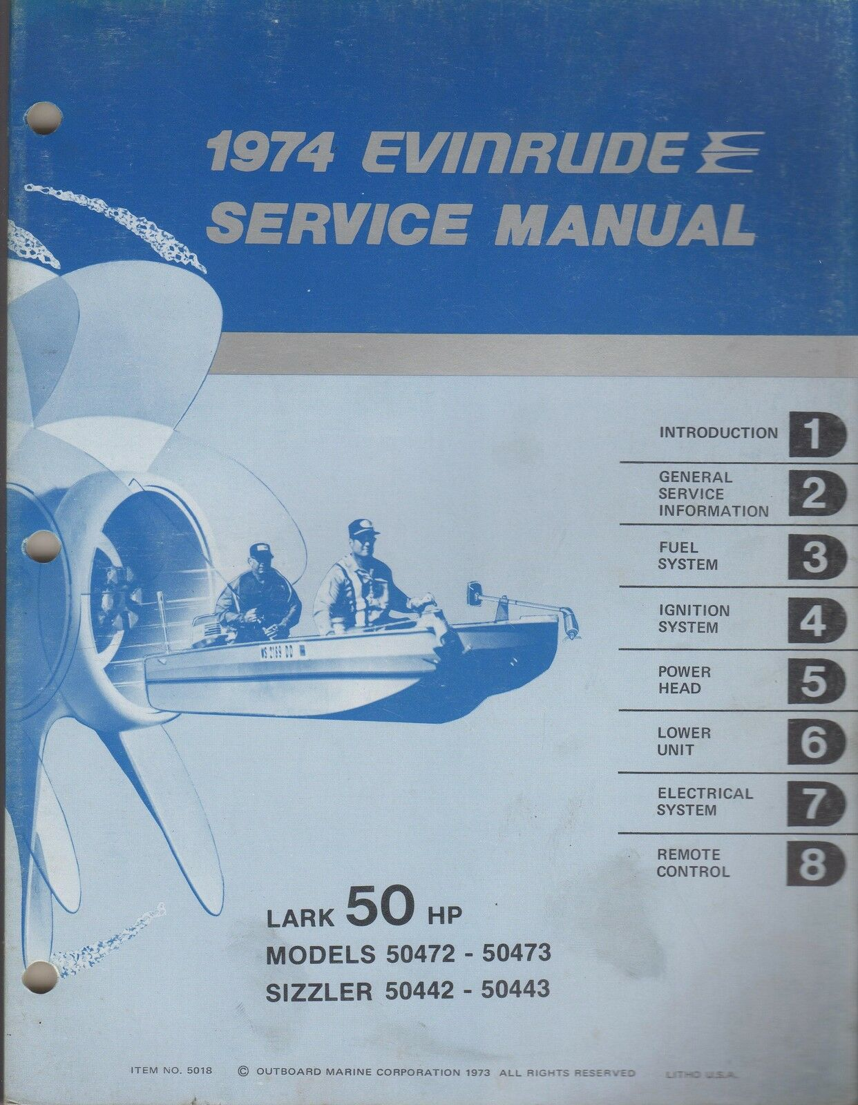 1974 Evinrude Outboard Lark 50 Hp Models Service Manual Used 1 of 1FREE  Shipping ...